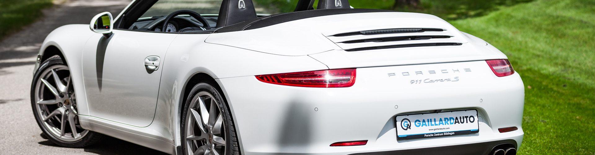 Une Porsche importée d'Allemagne par Gaillard Auto