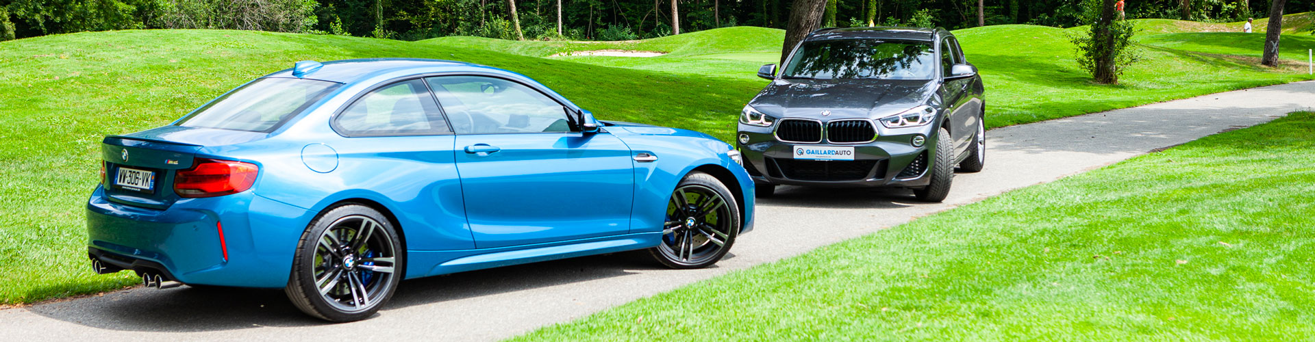 le BMW X2 et la BMW M2, toutes deux vendues par Gaillard Auto