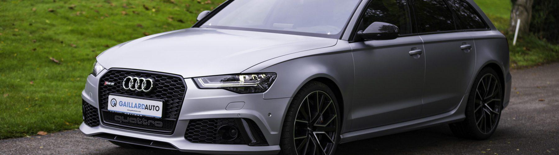 Audi RS6 importée par le mandataire Gaillard Auto