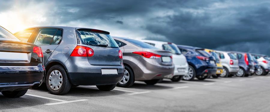 voitures d'occasion sur un parc automobile allemand